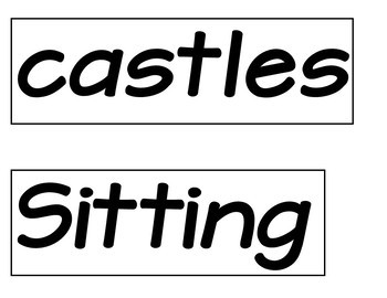 Five Little Sand Castles  (A Counting Pocket Chart Activity with Student Books)