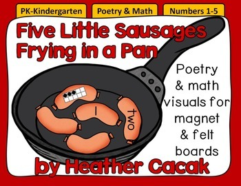 Five Little Sausages Felt & Magnet Board Activity (Math & Literacy)
