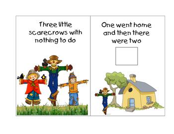 Five Little Scarecrows Mini  Book