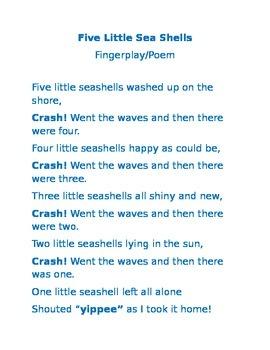 Five Little Sea Shells