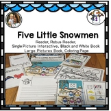 Winter: Five Little Snowmen Adapted and Interactive book and activities