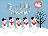 Five Little Snowmen - Animated PPT