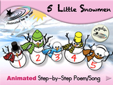5 Little Snowmen - Animated Step-by-Step Poem/Song - Regular