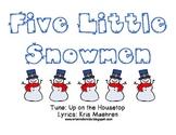 Five Little Snowmen Book & Activity