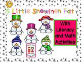 Five Little Snowmen Fat book with activities