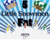 Five Little Snowmen Fat Smart Board Activity