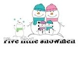 Five Little Snowmen - Ordinal Words