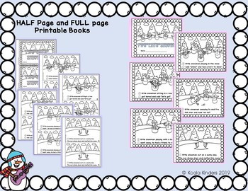 Five Little Snowmen Pocket Chart and Printable Readers