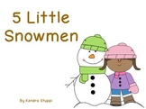 Five Little Snowmen Poem Flipchart