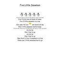 Five Little Snowmen Poem with Puppets