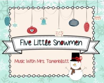 Five Little Snowmen Song