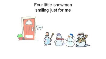 Five Little Snowmen song-timed with song