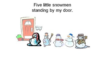 Five Little Snowmen song-move with click