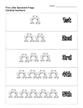 Five Little Speckled Frogs Activity
