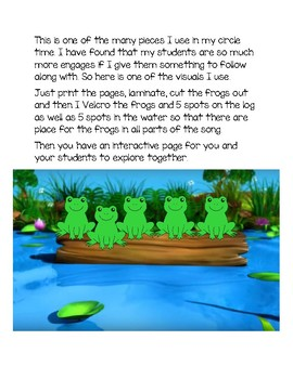 Five Little Speckled Frogs - Interactive Circle Time