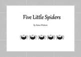 Five Little Spiders - Halloween