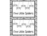 Five Little Spiders Mini-Book