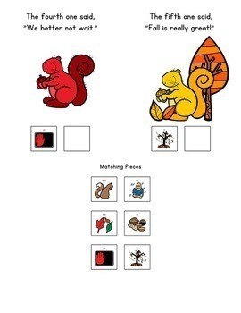 Five Little Squirrels: Adapted Book for Early Childhood Special Education