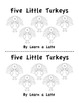 Five Little Turkeys - A Thanksgiving Little Reader (In B&W with retelling props)