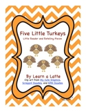 Five Little Turkeys - A Thanksgiving Little Reader (In B&W