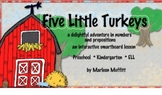 Five Little Turkeys-Adventure in Numbers and Prepositions