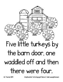 Five Little Turkeys Booklet