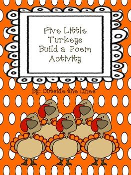 Five Little Turkeys Build a Poem
