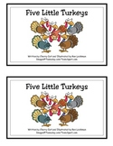 Five Little Turkeys Guided Reading Book for Thanksgiving