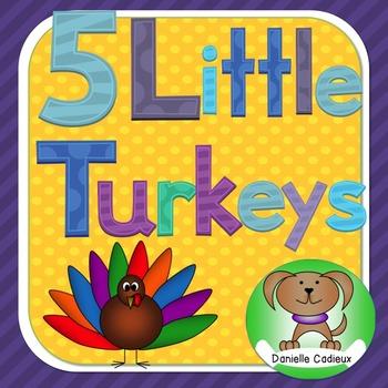 Five Little Turkeys Kindergarten