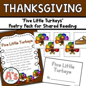 Five Little Turkeys Poetry Pack