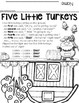 Five Little Turkeys --- Re-Telling Craftivity and Poem for Thanksgiving