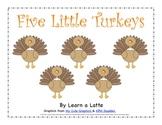 Five Little Turkeys - A Thanksgiving Little Reader (color version)