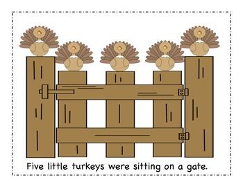 Five Little Turkeys - A Thanksgiving Little Reader (color version)