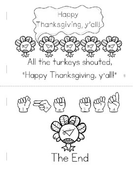 Five Little Turkeys on Thanksgiving Day Emergent Reader Book (Math and Literacy)