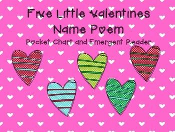 Five Little Valentine Name Poem Activities