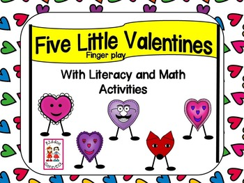 Five Little Valentines Book with activities