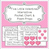 """""""Five Little Valentines"""" Interactive Pocket Chart and Poem Props"""