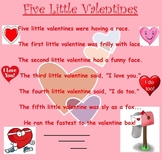 Five Little Valentines Shared Reading
