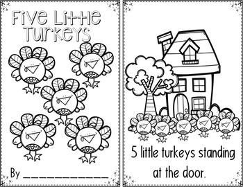 Five LittleTurkeys (A Thanksgiving Pocket Chart Activity and Student Book)