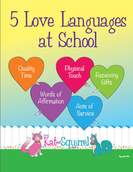 Five Love Languages At School Posters