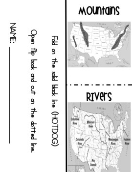 Five Major Rivers &  Major Mountains in the United States- Interactive Notebook