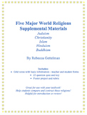 Five Major World Religions Supplemental Materials Includin