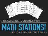 Five Math Stations