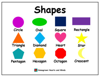 Five Mini Posters (Colors, Gray Shapes, Colorful Shapes, Numbers, Alphabet)