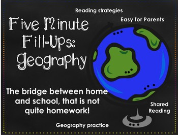 Five Minute Fill Up Geography Bundle (4 weeks)