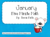 Five Minute Math:  January (Common Core Aligned)