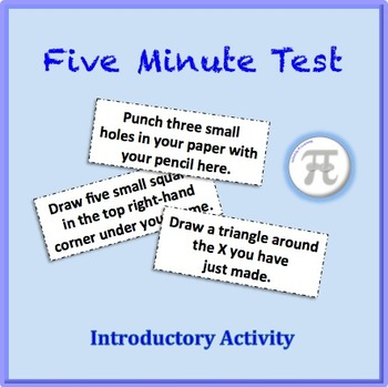 Five Minute Test Introductory Activity