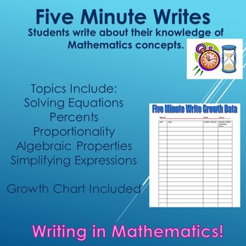 Five Minute Writes for Mathematics