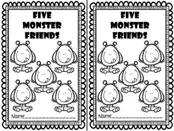 Five Monster Friends Emergent Reader & Centers