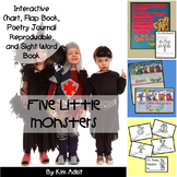 Sight Word Reader and Interactive Chart: Five Little Monsters